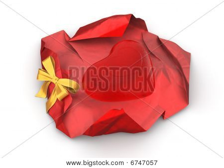 Unwrapped Love Candy Isolated
