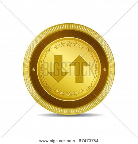 Data Circular Vector Gold Web Icon Button