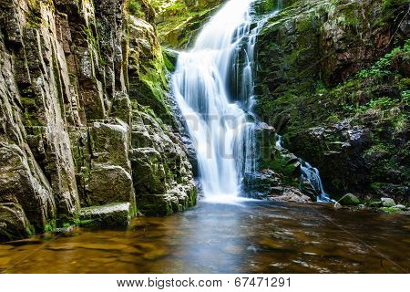 Poland. The Karkonosze National Park (biosphere Reserve) - Kamienczyk Waterfall