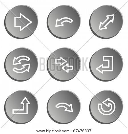 Arrows web icon set 1 , grey stickers set