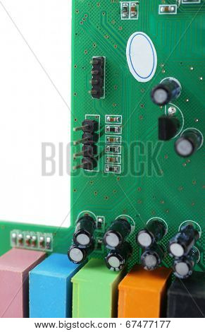Video card, close-up, isolated on white