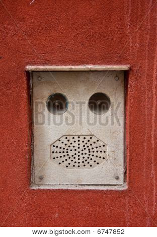 building intercom, Venice, Italy