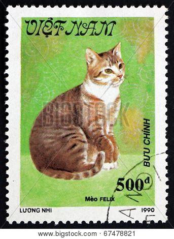 Postage Stamp Vietnam 1990 Meo Felix, Cat