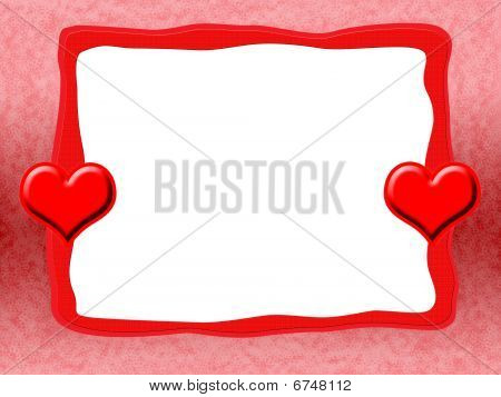 Frame with Red Hearts