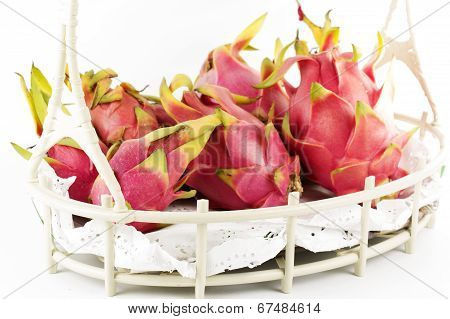 Dragon Fruit In Basket