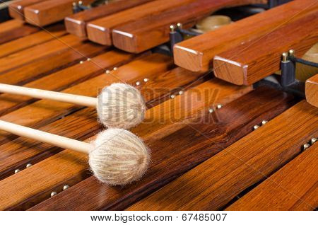 Mallets On Marimba