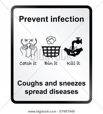 Prevent infection Information Sign