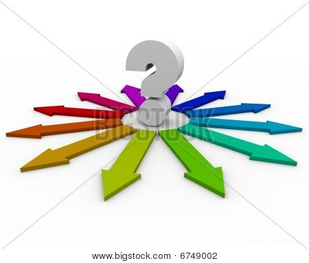 Question Mark And Many Arrows - Choices