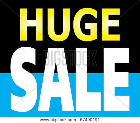 Huge Sale Promotion Label