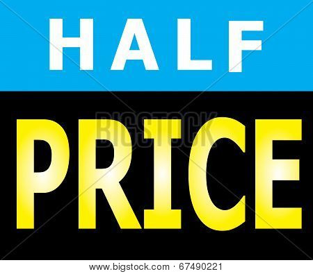 Half Price Promotion Label