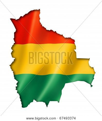 Bolivian Flag Map