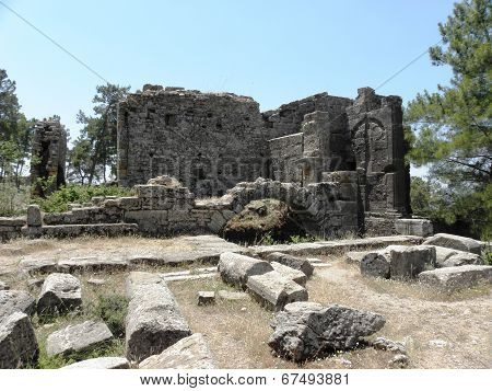 Look at the ruins of the Agora, ancient market square