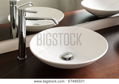 interior house, bathroom, design sink