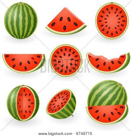 Icon Set Watermelon