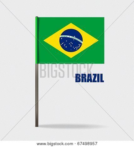 Brazil, Flags concept design. Vector illustration.