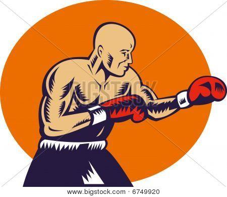 boxer jabbing side view