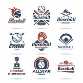 pic of softball  - Baseball jobs associated with a set of icons that can be used - JPG