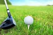 stock photo of golf bag  - Golf game - JPG
