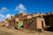 picture of pueblo  - Detail from Taos Pueblo in New Mexico - JPG
