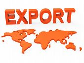 pic of export  - Export World Representing Sell Overseas And Globalize - JPG