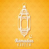 stock photo of eid ka chand mubarak  - illustration of Ramadan Kareem  - JPG
