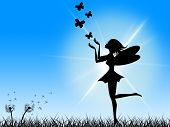 picture of fairyland  - Sky Butterflies Indicating Fairy Tale And Fairyland - JPG