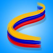 pic of south american flag  - Flag Columbia Meaning South American And Nationality - JPG