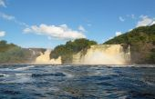 foto of canaima  - jungle forest and waterfall in Canaima Venezuela - JPG