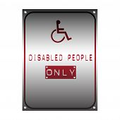 Постер, плакат: Disabled people only