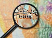 Phoenix magnified on a map mouse pad