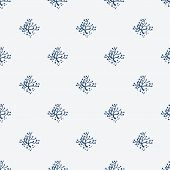 pic of indigo  - Indigo blue hand drawn seamless pattern - JPG