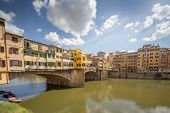 stock photo of trinity  - Ponte Vecchio view from St Trinity bridge - JPG