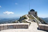 stock photo of mausoleum  - The mountain mausoleum of Lovchen in Montenegro