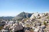 pic of mausoleum  - The mountain mausoleum of Lovchen in Montenegro - JPG