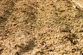 stock photo of plowed field  - Harvest ground preparation from Thai agriculture field - JPG