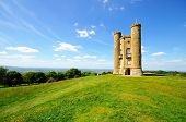stock photo of broadway  - Broadway tower on Broadway Hill near Broadway Worcestershire England UK Western Europe - JPG