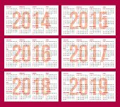 foto of august calendar  - calendar grid for 2014 2015 2016 2017 2018 2019 - JPG