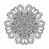 pic of doilies  - Contemporary doily round lace floral pattern card - JPG