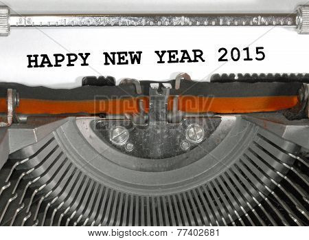 Happy New Year 2015 Typewriter