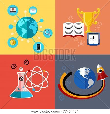Modern education and science concept