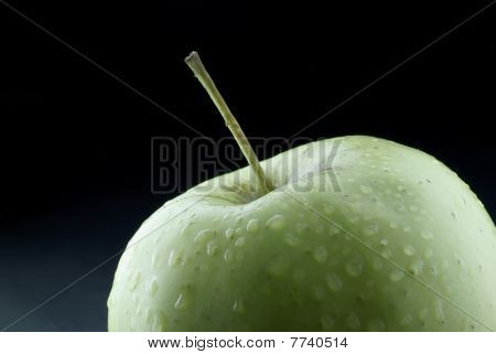 A fresh green apple