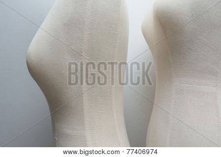 Textile Mannequin Cloth Female Dummy In The Room