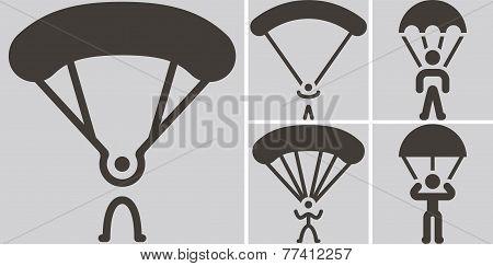 Parachute Sport Icons