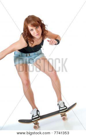 Pretty Skateboarder