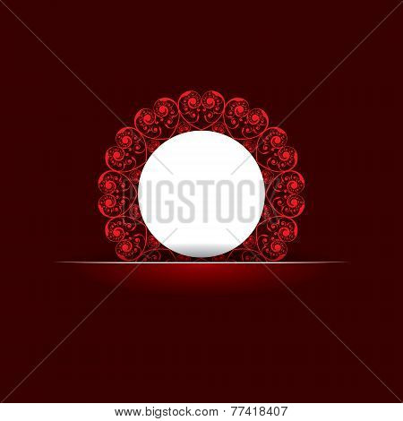 Valentine greeting with classic design stock vector