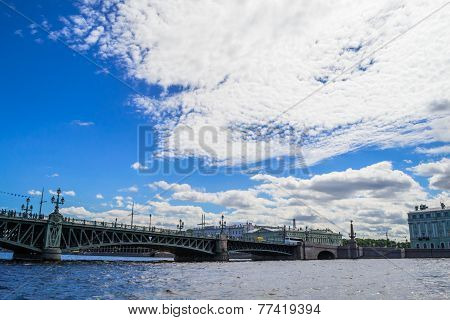 Troickiy bridge in St. Petersburg