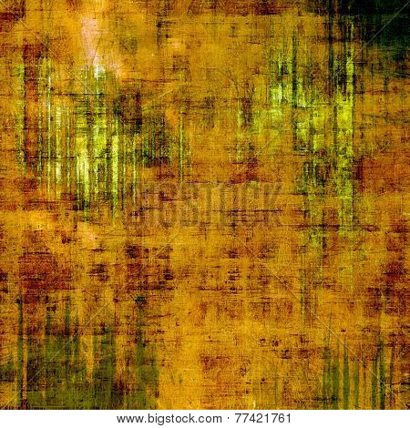 Abstract old background or faded grunge texture. With different color patterns: green; orange; brown; yellow