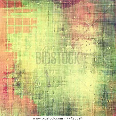 Abstract old background or faded grunge texture. With different color patterns: green; orange; yellow