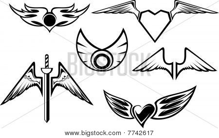 Set Of Wing Symbols
