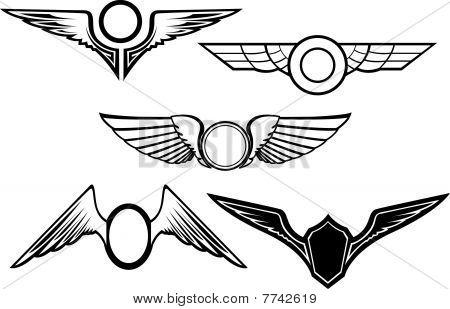 Set Of Wing Symbols